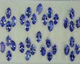 25.78 Cts Natural Tanzanite Purplish Blue 9x5 mm Marquise 34 Pcs Tanzania