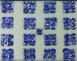 54.10 Cts Natural Tanzanite Purplish Blue 5.5 mm Cushion 65 Pcs Tanzania
