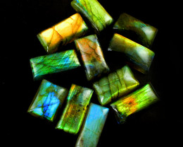 Genuine 260.00 Cts Amazing Flash Labradorite Gemstone Lot