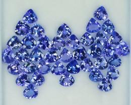 27.72 Cts Natural Tanzanite Purplish Blue 6.0 mm Heart mix 39 Pcs Tanzania