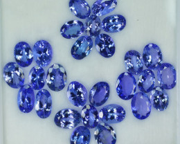 29.26 Cts Natural Tanzanite Purplish Blue 8x6 mm Oval 28 Pcs Tanzania