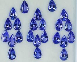 19.66 Cts Natural Tanzanite Purplish Blue 8x5 mm Pear 23 Pcs Tanzania