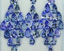 33.40 Cts Natural Tanzanite Double Shade Blue-Green 8x6 mm Pear 40 Pcs