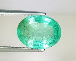 """2.55 ct """"Excellent Gem """" Fantastic Oval Cut Natural Emerald"""