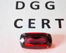 3.29 CT VVS Spinel FROM BURMA TOP RED Color  Untreated/Unheated