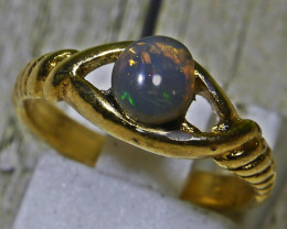 15.20 CT RARE UNTREATED Indonesian Purple Base Crystal Opal Ring Jewelry