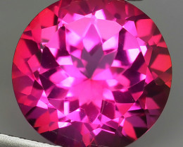 5.85 CTS SUPERIOR! TOP 11.20 MM ROUND CUT HOT PINK-TOPAZ GENUINE NR!!
