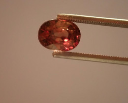 2.2ct NATURL  VVS ZIRCON  Certifikat , Brownish Orange, best quality