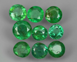 1.15 CTS EXCELLENT~NATURAL EMERALD ~ ROUND  ~ NICE QUALITY GOOD COLOR GOOD