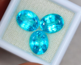 10.39ct Paraiba Colour Topaz Oval Cut Mix Size Lot B126