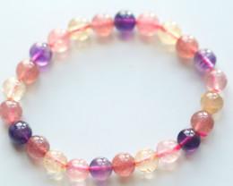 77.5Ct Natural Mix Colour Crystal Bracelet