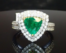 1.15ct Emerald Ring