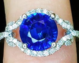 2.26ct Blue Sapphire Ring