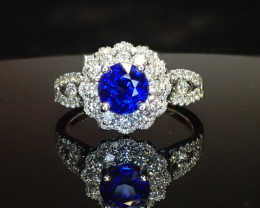 1.40ct Blue Sapphire Ring