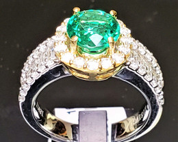 1.44ct Zambian Emerald Ring