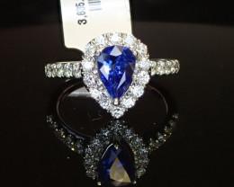1.03ct Blue Sapphire Ring