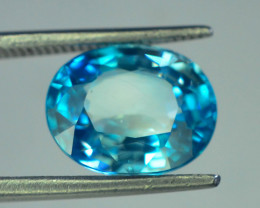 4.35 ct Natural Blue Zircon From Cambodia