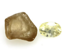 3.57cts Natural Australian Zircon Sample Set Before and After