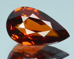 1.48Cts Mind blowing Natural Mandarin spessertite garnet pear