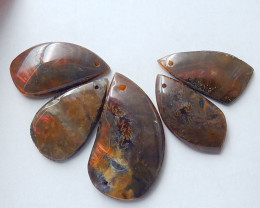 50cts New  natural ammonite cabochon beads  semi-gem personalized (A326)