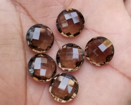 SMOKY QUARTZ CHECKERED CUT PARCEL  Natural+Untreated VA1216