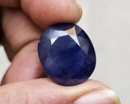 BIG BLUE SAPPHIRE GENUINE Natural Gemstone treated VA1241