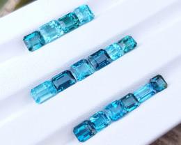 15.45 Ct Natural Top Color Blue Ring Size Tourmaline Gemstones Parcels
