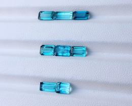 6.85 Ct Natural Blueish Transparent Tourmaline Gemstones Parcels
