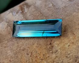 2.25 Ct Natural Blueish Bi Color Transparent Tourmaline Gem