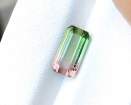2.20 Ct Natural Bi Color Top Luster Tourmaline From Paprock Afghanistan