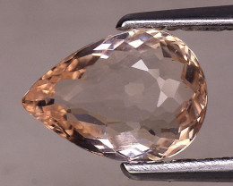 1.25 Cts Morganite Awesome Color and Luster Gemstone MG