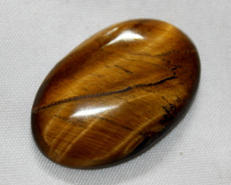 38 Crt Natural GOLDEN TIGER EYE Cabochon 0010