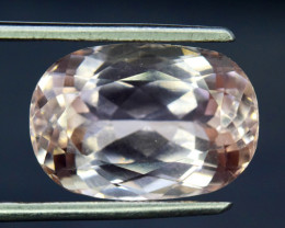 $15 NR Auction - 11.45 Carats Natural Peach Pink  Kunzite Gemstone