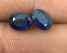 (B3) Incredible Cert. $650 Nat 2.49tcw. Blue Ceylon Sapphire Pair