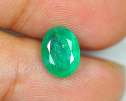 Limited Offer 1.76ct Zambia Green Emerald Oval Cut Lot A310
