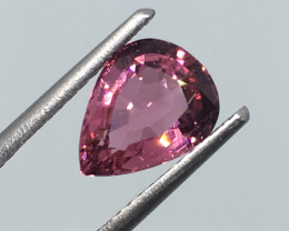 1.50 Carat VVS Tourmaline Passion Pink Pear - Exquisite Cut and Quality !
