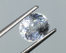 2.37 Carat VVS Zircon Diamond White - Spectacular Flash and Quality !