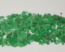 44 carats lush green color rough Emerald parcel