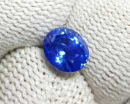 UNHEATED CERTIFIED 1.25 CTS NATURAL BEAUTIFUL CORNFLOWER BLUE SAPPHIRE CEYL