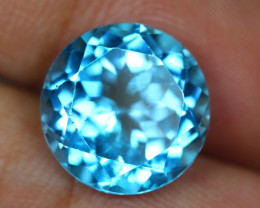 12.12ct Swiss Blue Topaz Round Cut Lot V2792