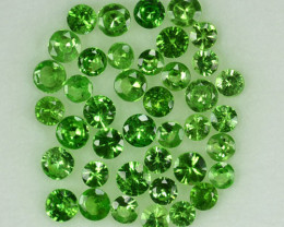2.02Cts Natural Green Tsavorite Garnet 2.3 - 1.8 mm Round Parcel