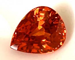 1.50ct Top Hot Tangerine Spessartite Garnet Jewelry grade