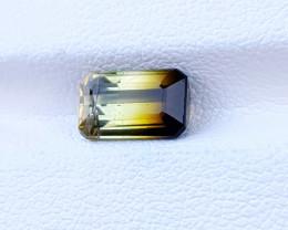 1.80 Ct Natural Bi Color Top Luster Transparent Tourmaline Gemstone