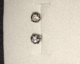 9ct. Gold & Diamond Earrings 0.10ct.