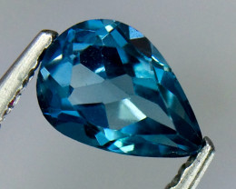 0.59 Crt Natural London Blue Topaz Beautifulest Faceted Gemstone.( AG 81)