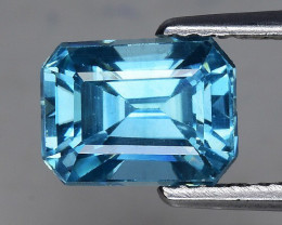 3.09 Cts Blue Zircon Awesome Color ~ Cambodia Z7