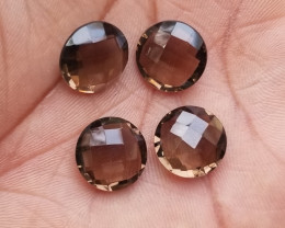 SMOKY QUARTZ CHECKERED BALLS PARCEL  Natural+Untreated VA1258