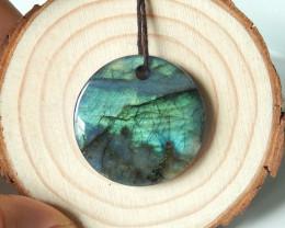 42.5cts Fashion labradorite lapis lazuli intarsia pendant bead  (A382)