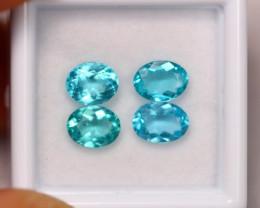 3.23Ct Natural VS Clarity Paraiba Color Apatite Pairs~ B05/12