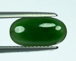 2.02Cts Natural Green Jade Cabochon Burmese